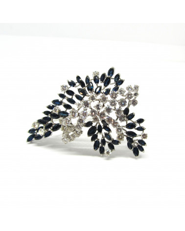 Broche diamantes y zafiros